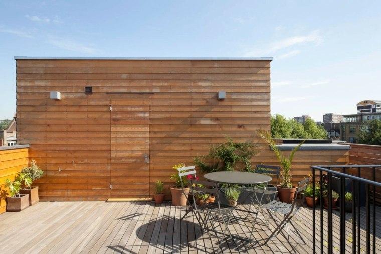 muebles el paraiso terraza moderna pared madera ideas