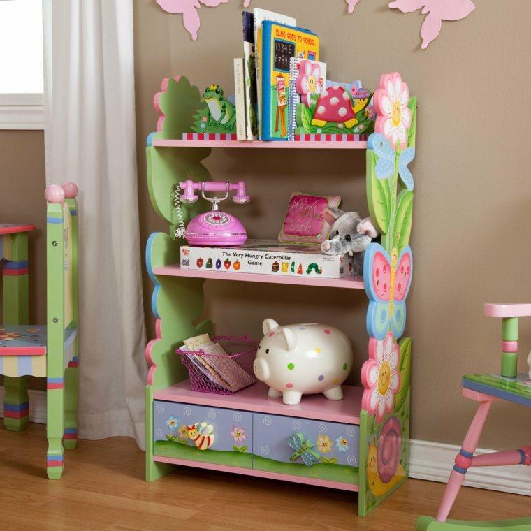 muebles estantes bonito diseño colores