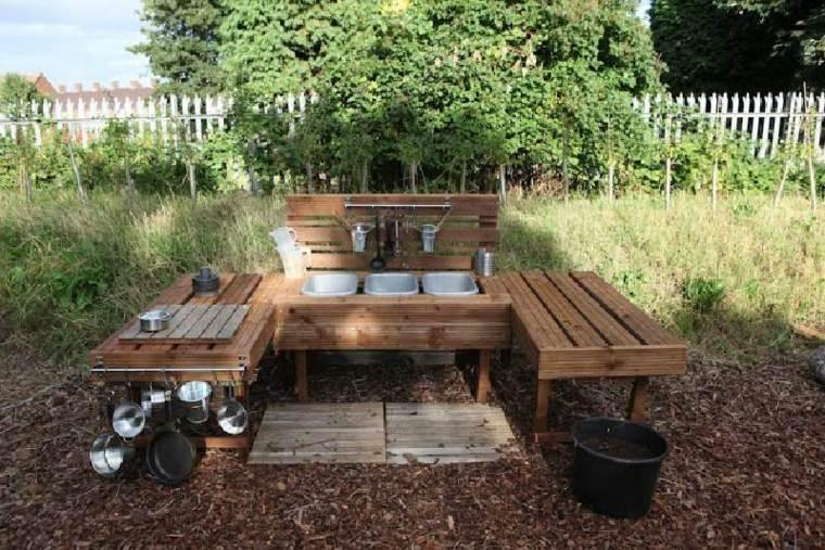 Bricomania mesa de palets mesas hechas con palets for Bricomania jardin