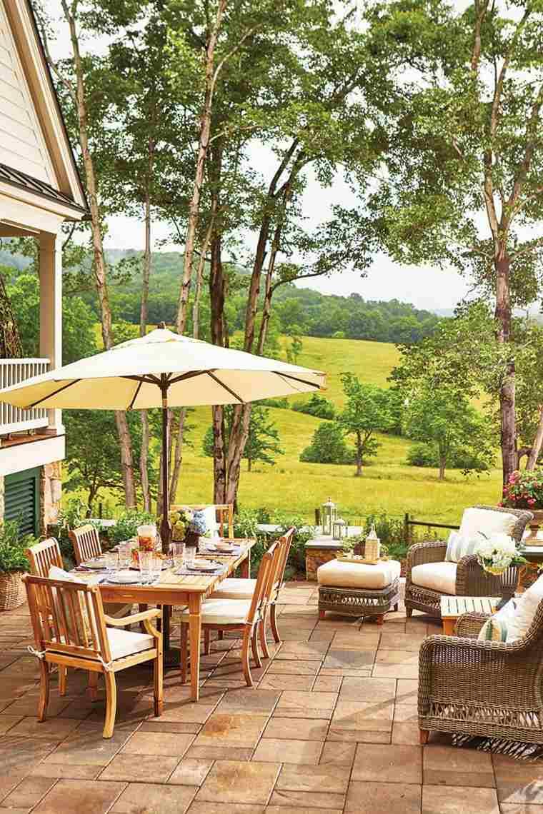 muebles madera lugar comidas vistas terraza ideas