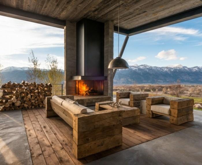 muebles madera retocados estremos lamparas