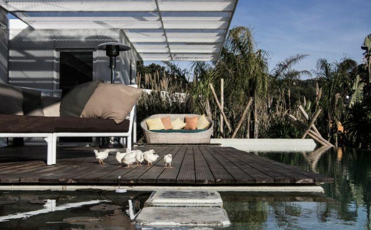 muebles modernos pergola jardin diseno ideas