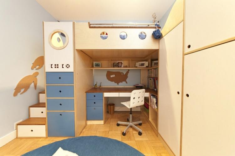 Cuarto infantil dise o moderno habitaciones compartidas - Muebles habitaciones infantiles ...