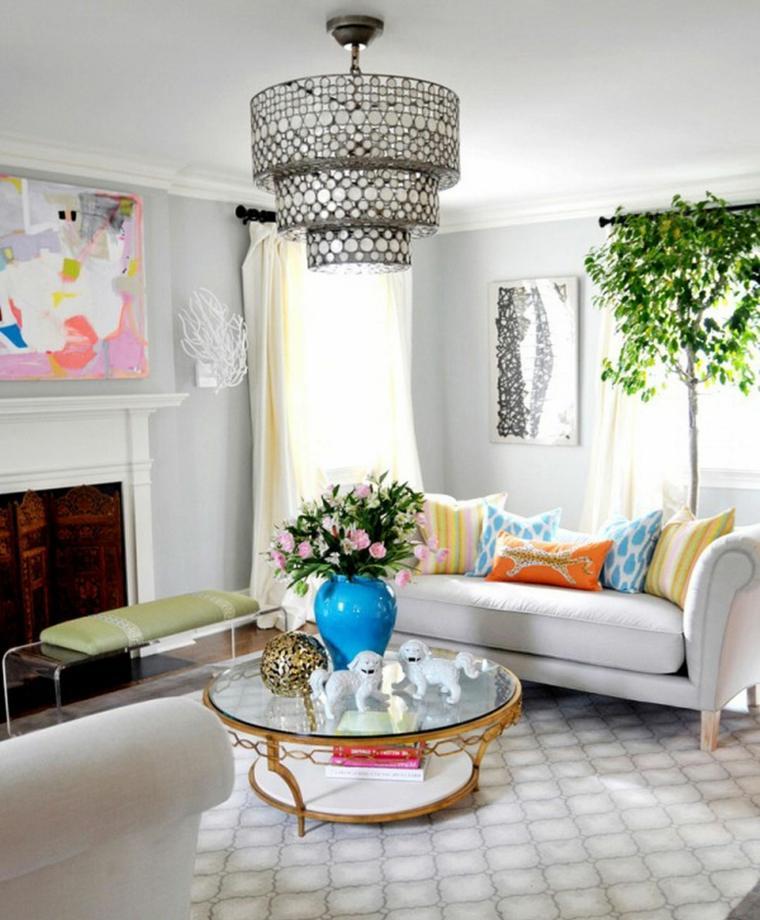 Ideas para decorar la sala de estar en primavera for Idea sala de estar cuadrada