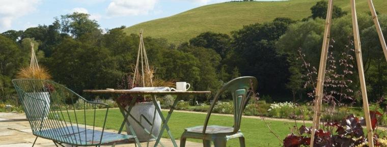 muebles rusticos jardin clasico opciones ideas