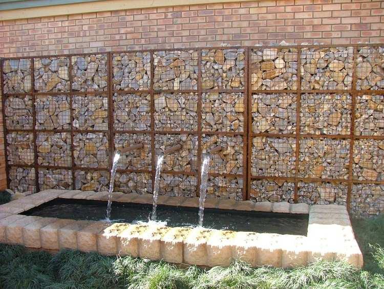 muro fuente piedras gavion corten