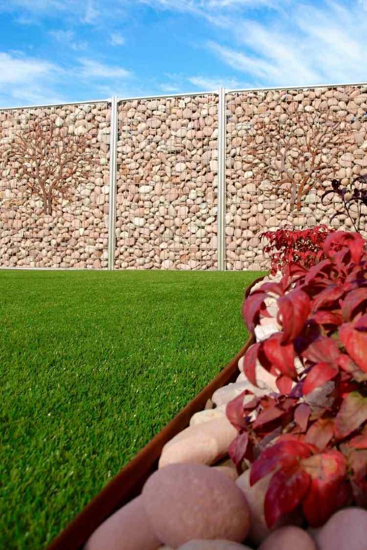 muro valla piedras jardines