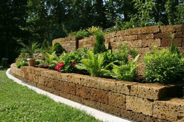 muros contencion de piedras porosas