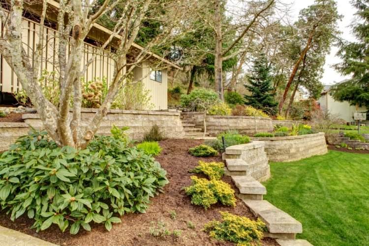 original diseño jardín aterrazado