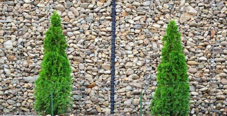 muros modernos llenos piedras