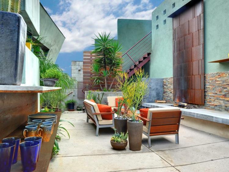 netales paredes acero colores sitios muebles corten