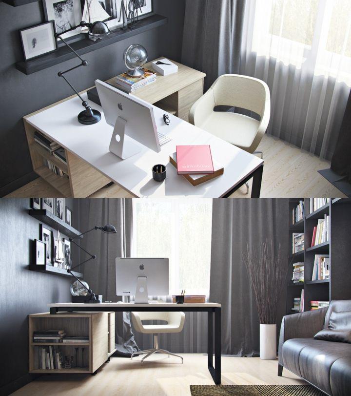 oficinas estilos decorativos muebles sals estantes