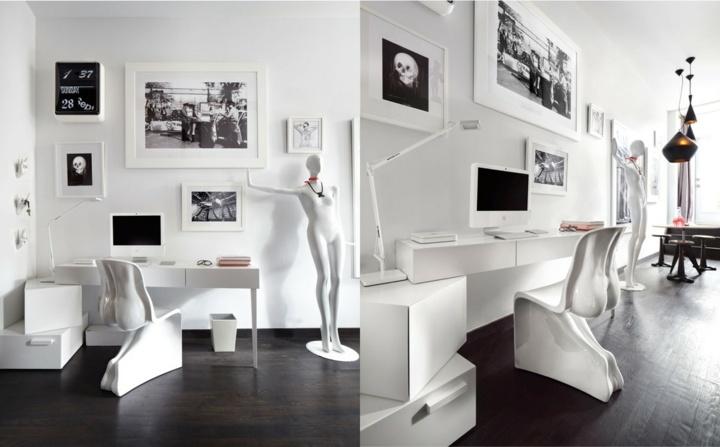 oficinas estilos madera salones estatuas color