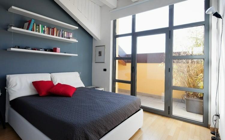 oiginal habitación pequeña moderna añil
