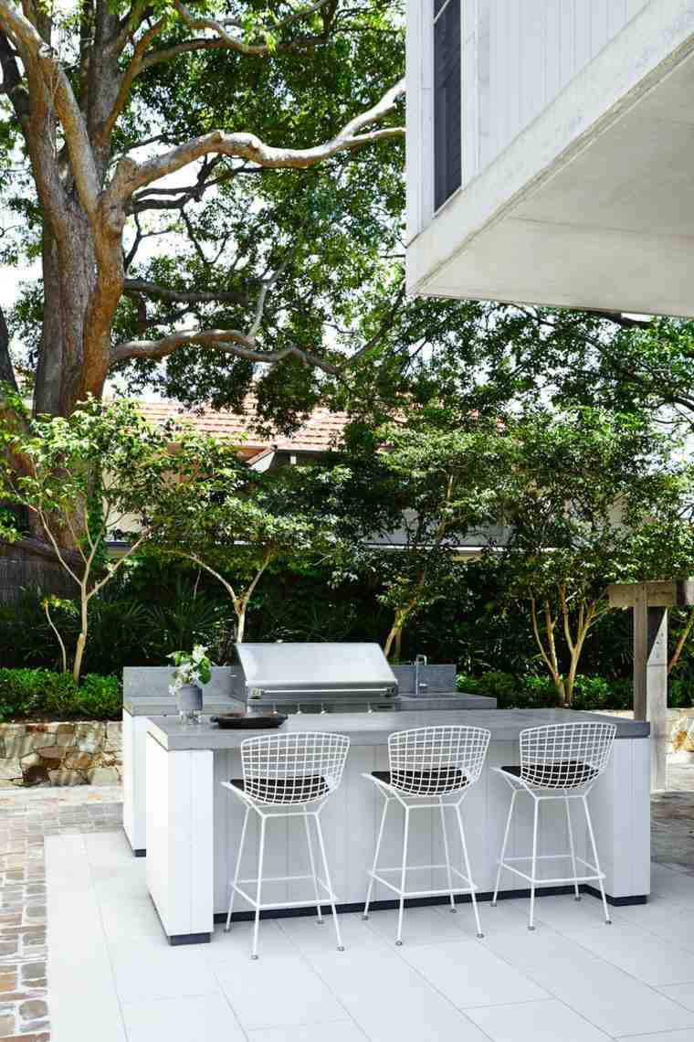 opciones cocina aire libre barra sillas acero ideas