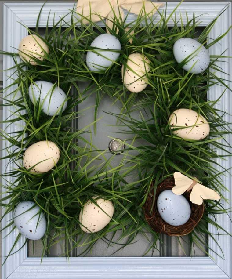 opciones coronas huevos hierba verde ideas