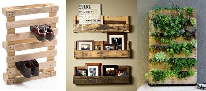 opciones creativas palets reciclar estantes jardines verticales ideas