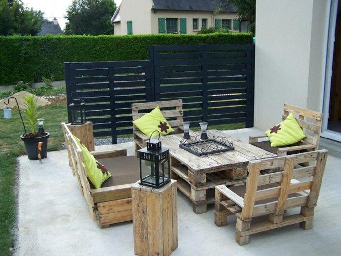 opciones creativas palets reciclar muebles jardin ideas
