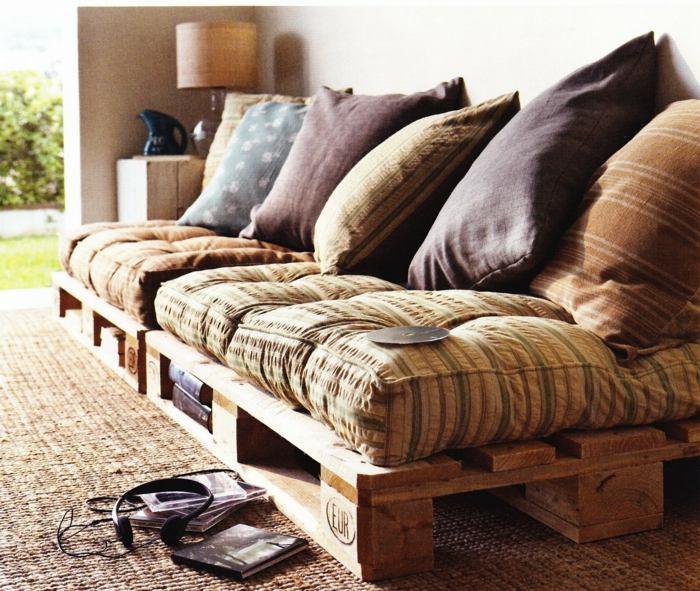 opciones creativas palets reciclar sofa cojines ideas