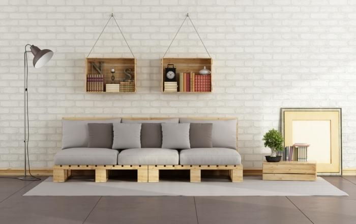 opciones creativas palets reciclar sofa moderna ideas