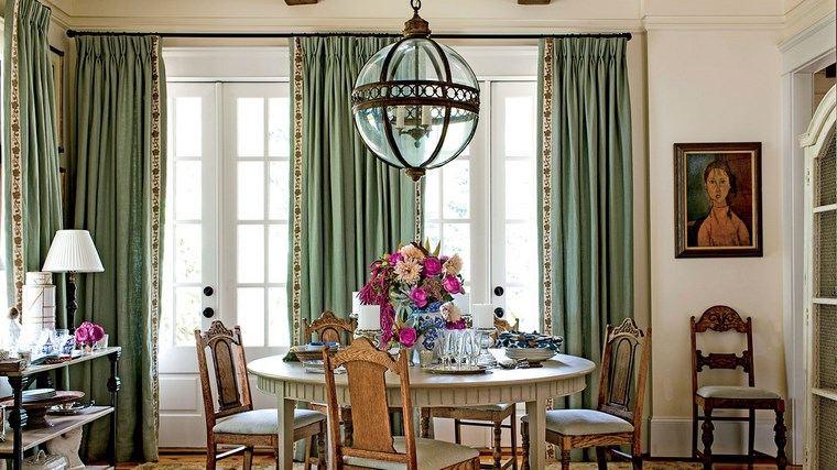 opciones diseno colorido comedor cortinas ideas