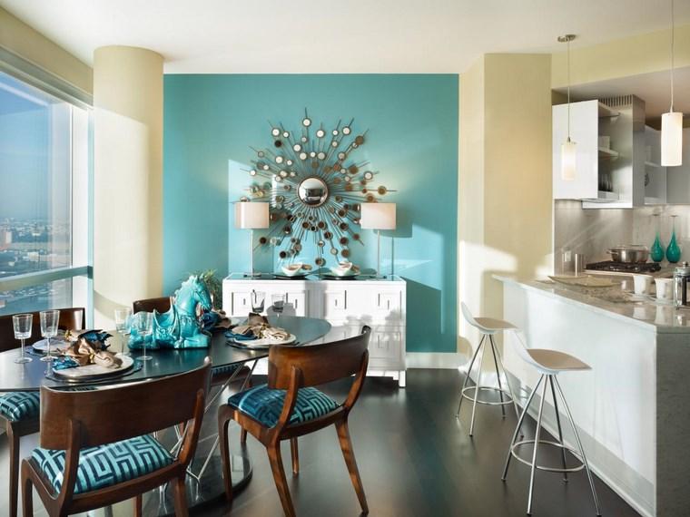 opciones diseno colorido comedor decoracion pared ideas