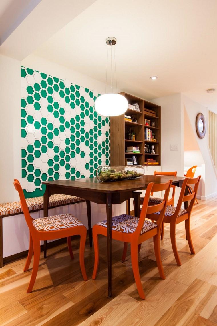 opciones diseno colorido comedor decorar pared ideas