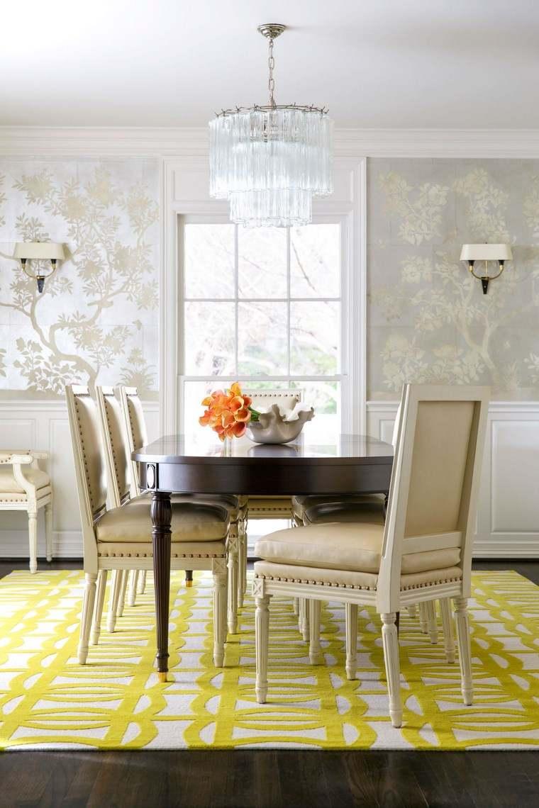 opciones diseno colorido comedor elegante alfombra ideas