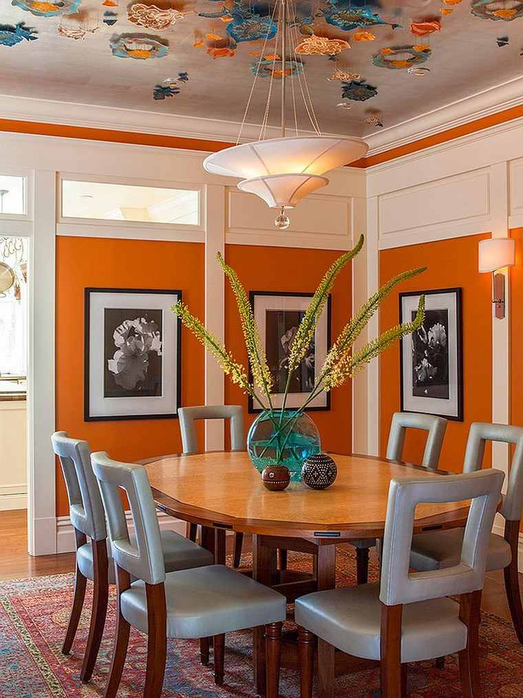 Mezcla De Colores Vibrantes 60 Ideas De Comedores Vivos