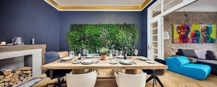 opciones diseno colorido comedor jardin vertical ideas