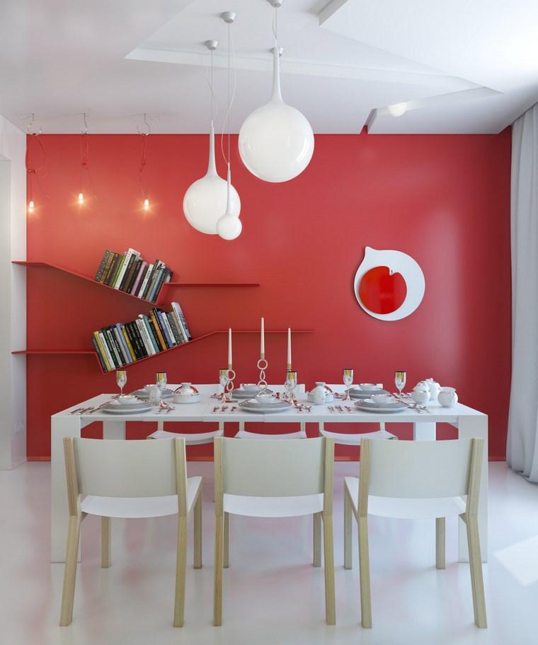 opciones diseno colorido comedor rojo blanco ideas
