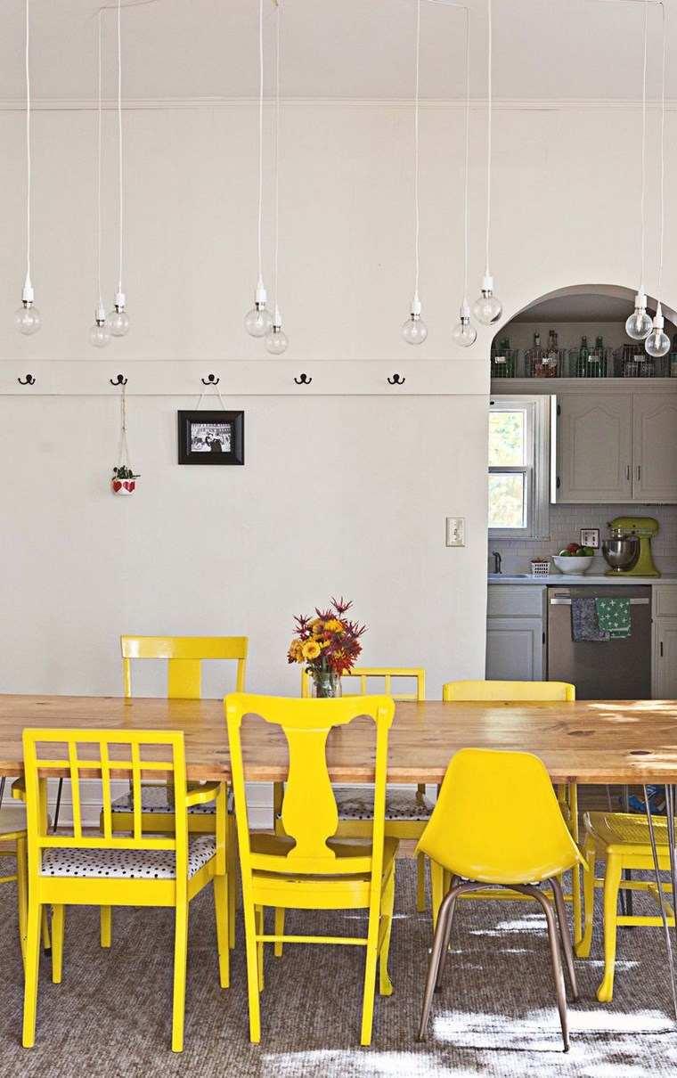 opciones diseno colorido comedor sillas amarillas ideas