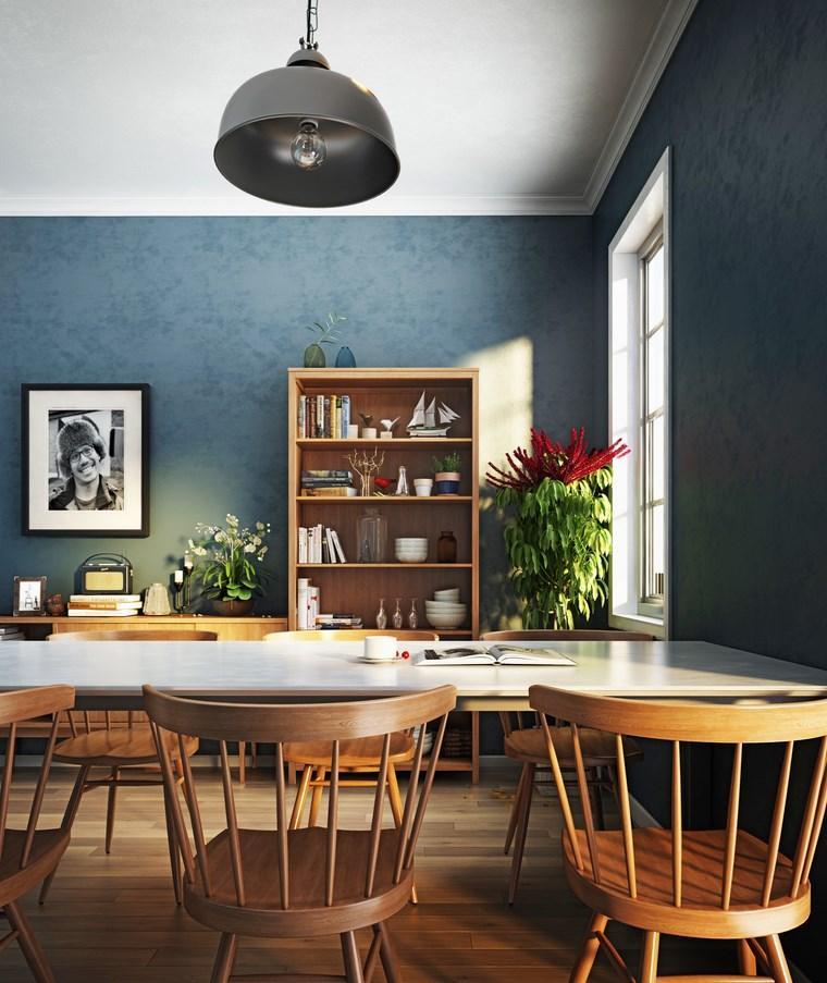 opciones diseno coloridoc omedor sillas retro madera ideas