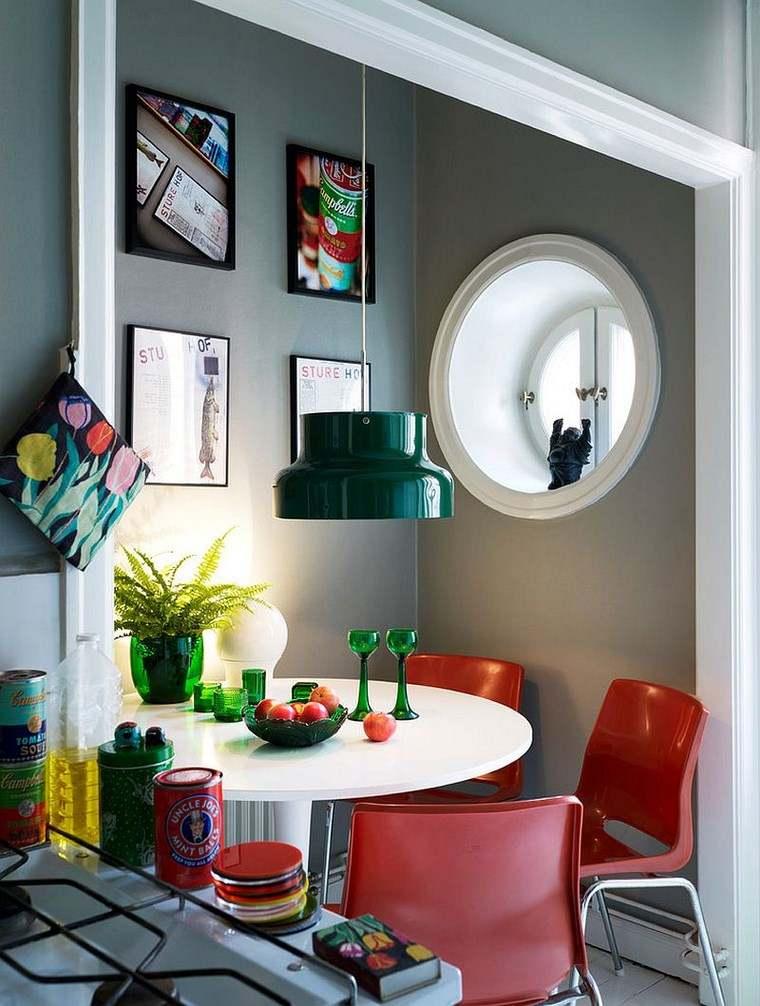 opciones diseno colorido comedor sillas rojas ideas