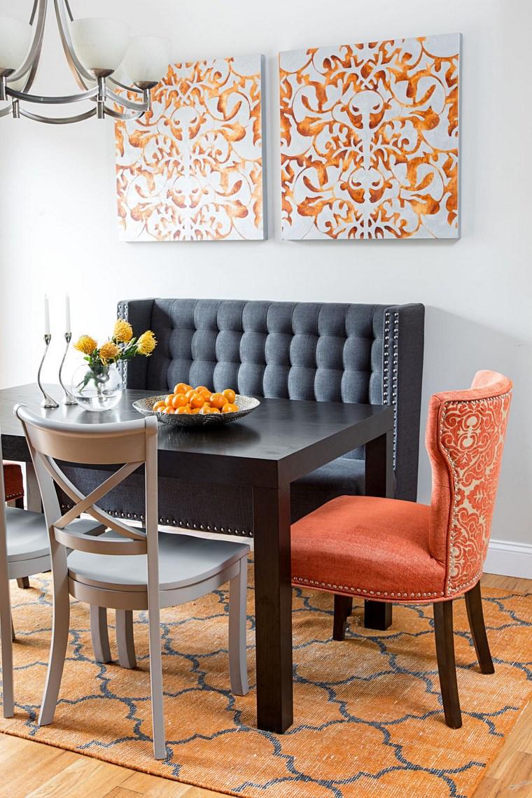 opciones diseno colorido comedor sofa cuadros ideas