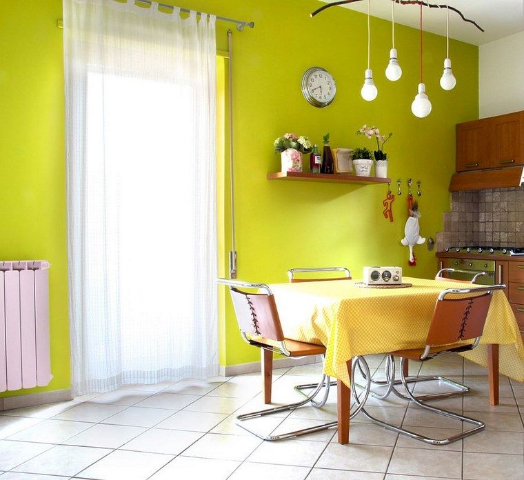 Mezcla de colores vibrantes 60 ideas de comedores vivos -