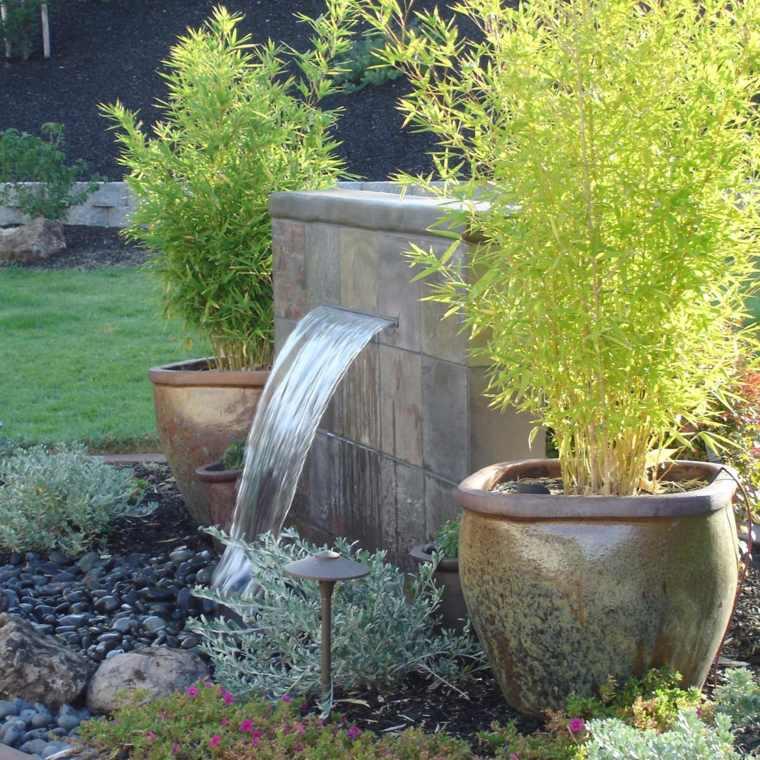 opciones diseno jardin fuente simple ideas