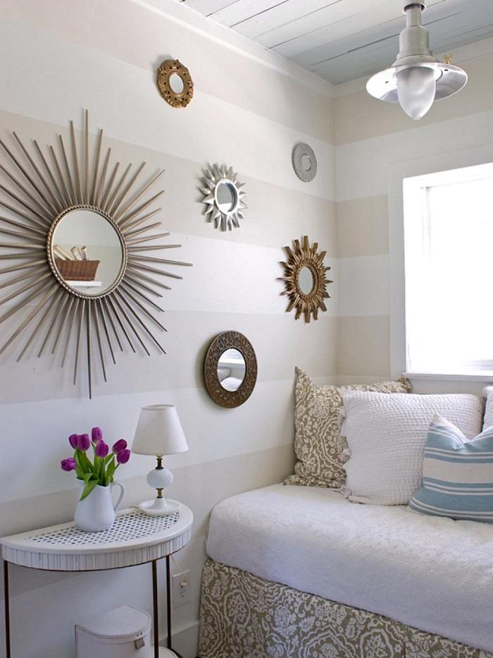 opciones espacios pequenos pared rayas ideas