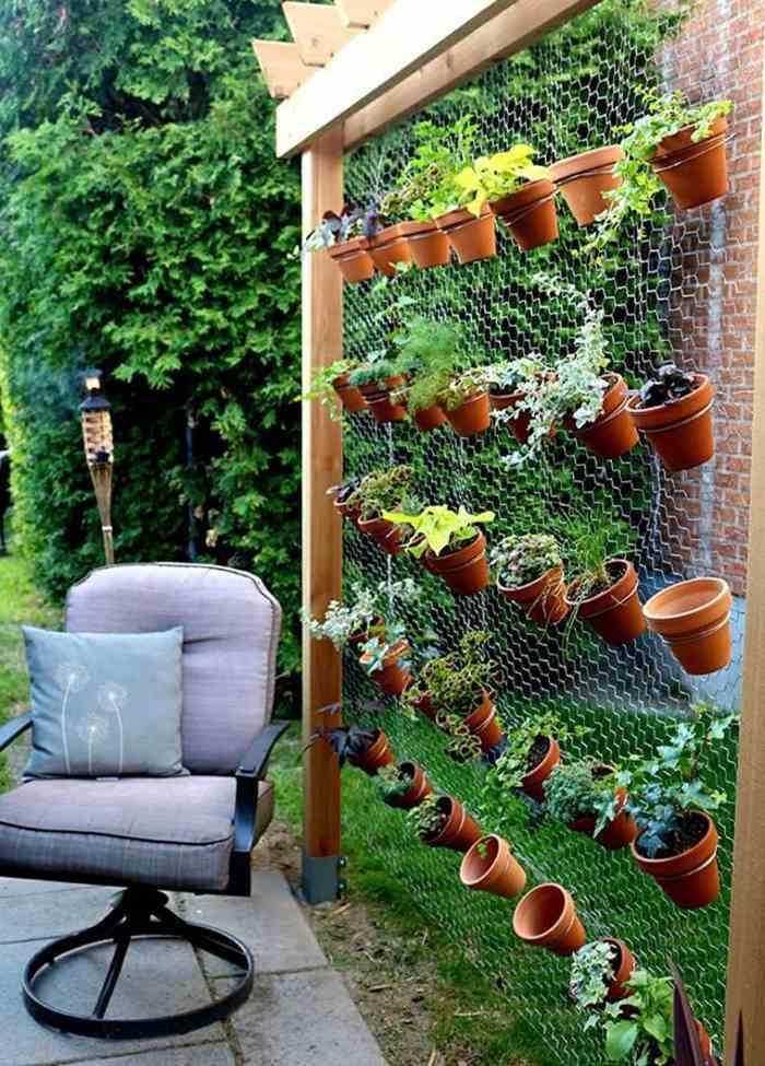 opciones hierbas jardin vertical aire libre ideas