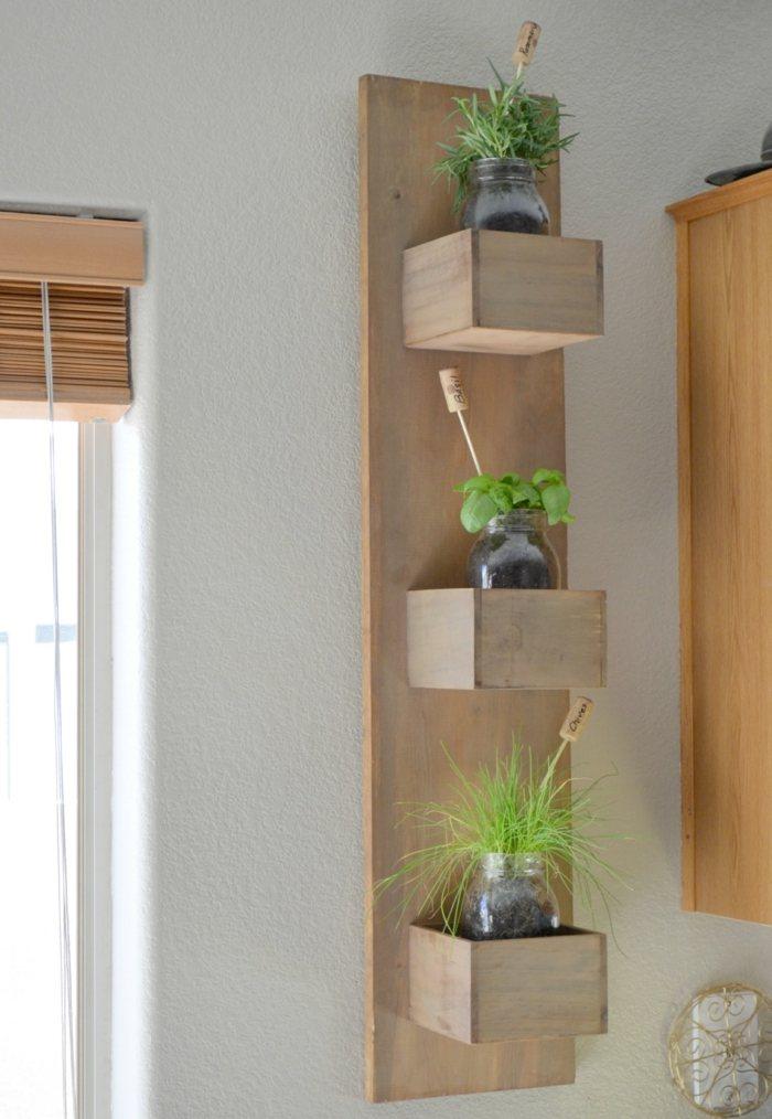 opciones hierbas jardin vertical madera natural ideas