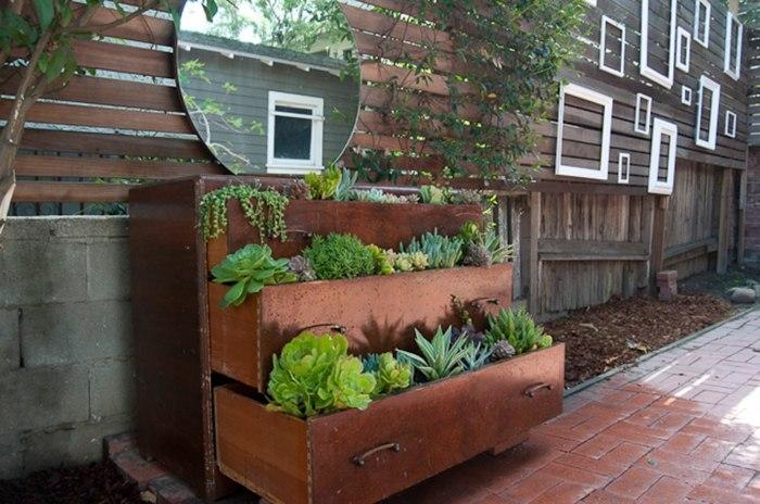 opciones hierbas jardin vertical viejo armario ideas