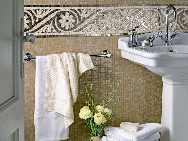 opciones mosaico banos color brillante ideas