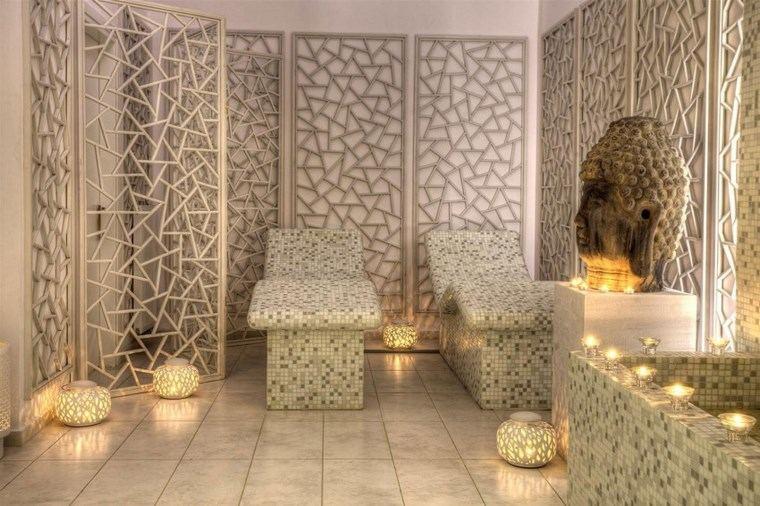 opciones mosaico banos lamparas camas ideas
