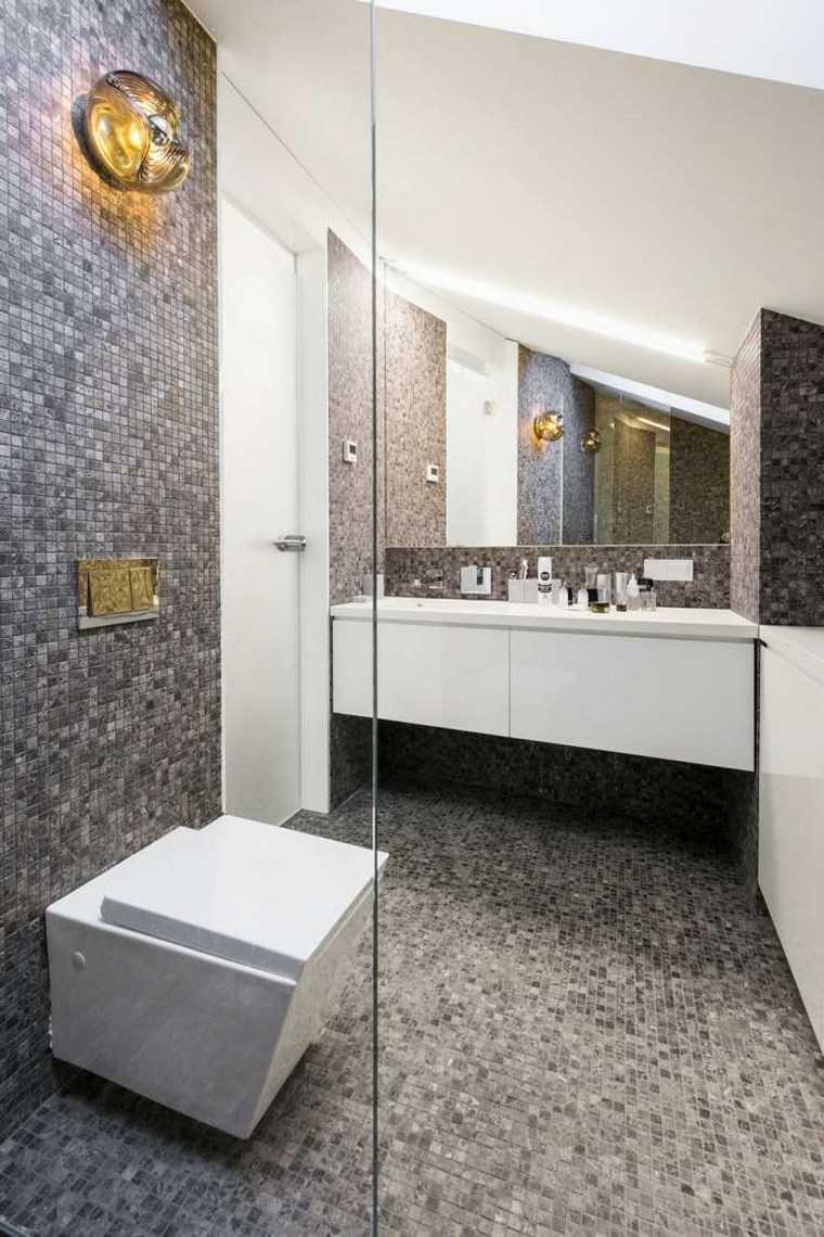opciones mosaico banos lavabo blanco ideas