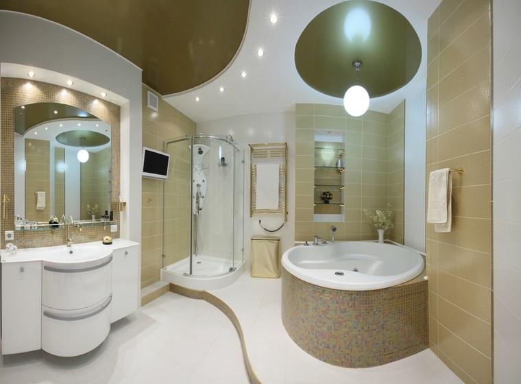opciones mosaico banos niveles lavabo blanco ideas
