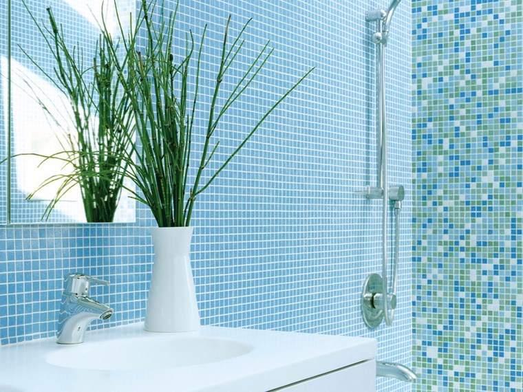 opciones mosaico banos plantas bano mosaico azul ideas
