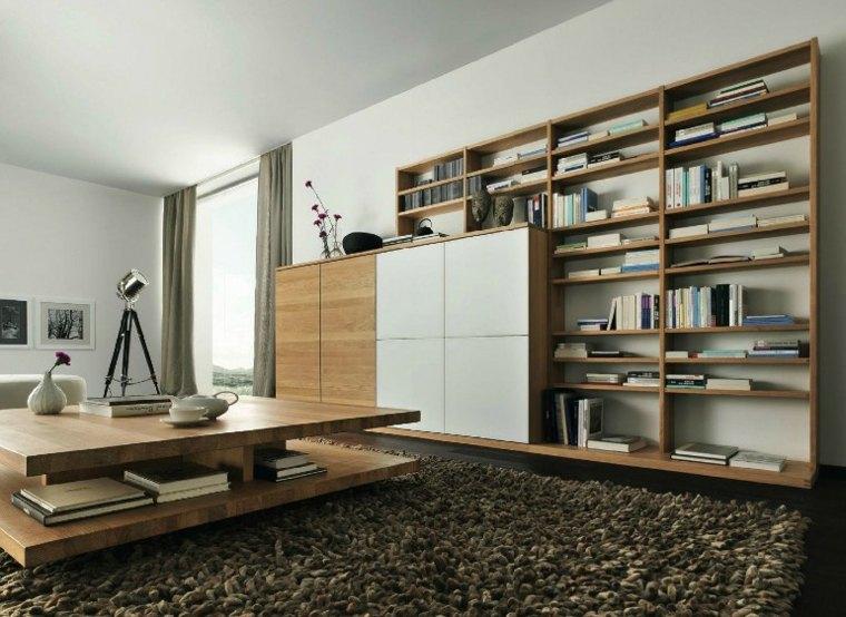 opciones muebles pared salon madera ideas