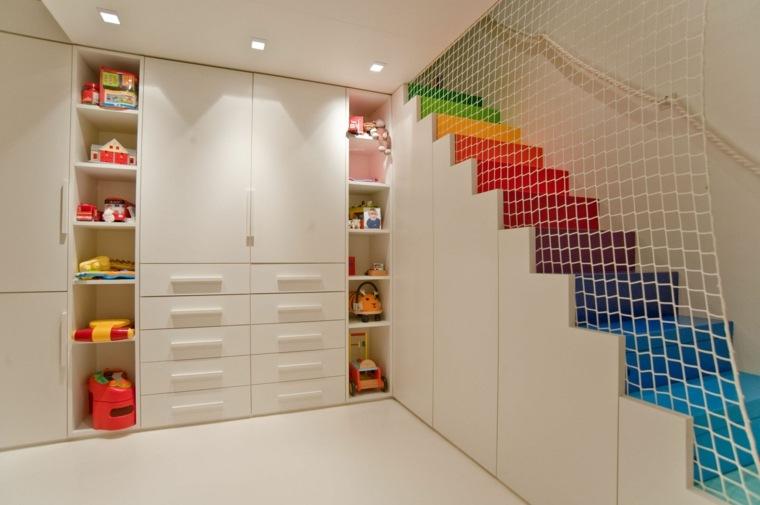 Escaleras de interior 74 dise os coloridos - Barandilla escalera ninos ...