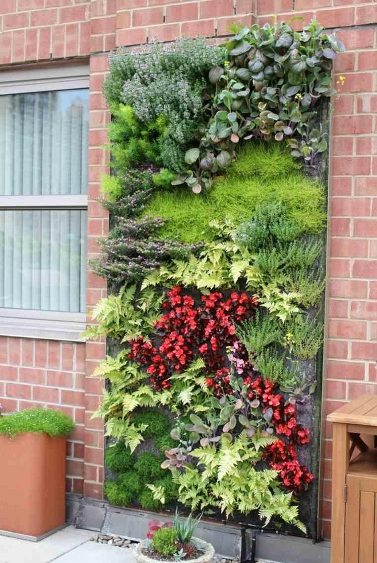 Cultivo hidroponico moderno y diseños de jardines verticales