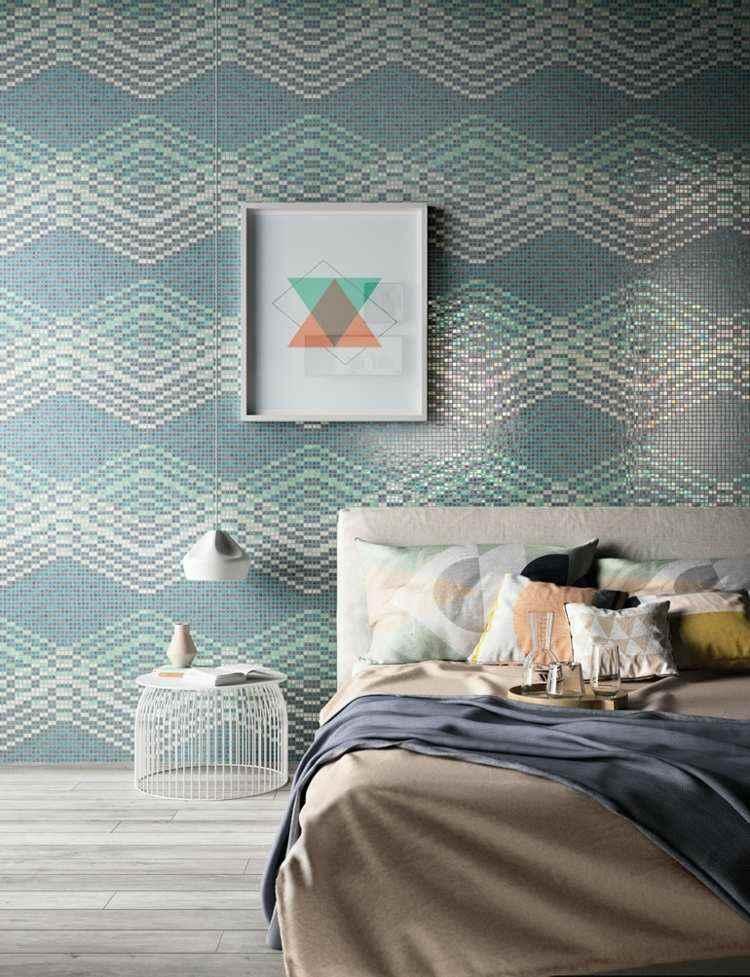 original mosaico paredes habitación